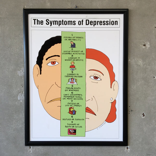 The Symptoms of Depression Art by Seymour Chwast
