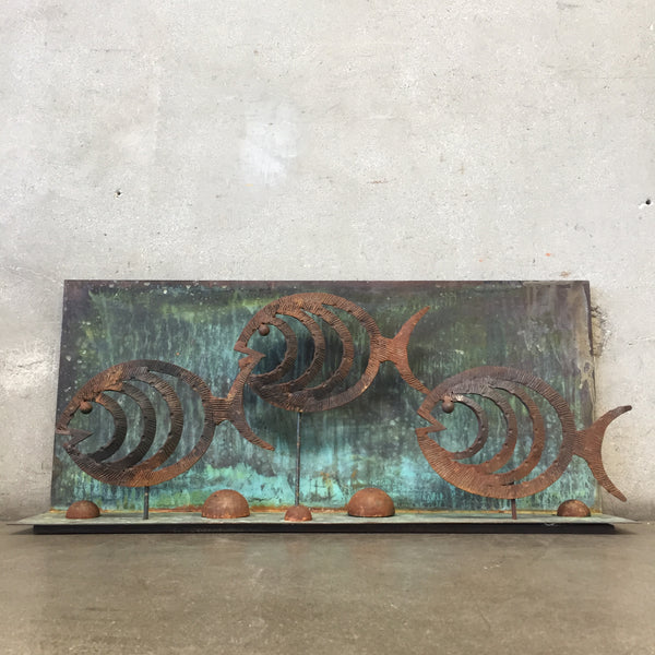 Vintage Copper Fish Sculpture