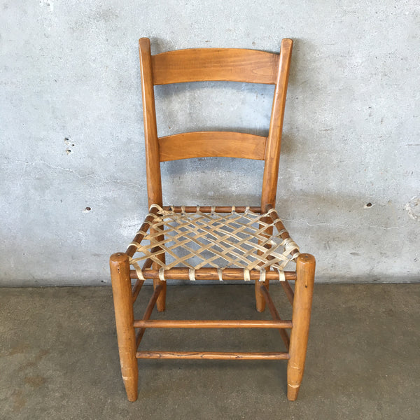 Vintage Chair with Rawhide Straps