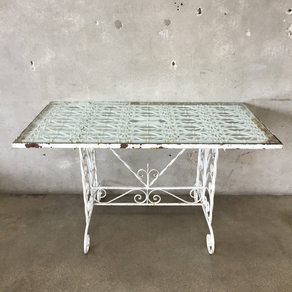 1920's Wrought Iron Console Table
