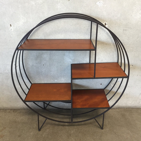 Mid Century Style Round Split Level Shelf