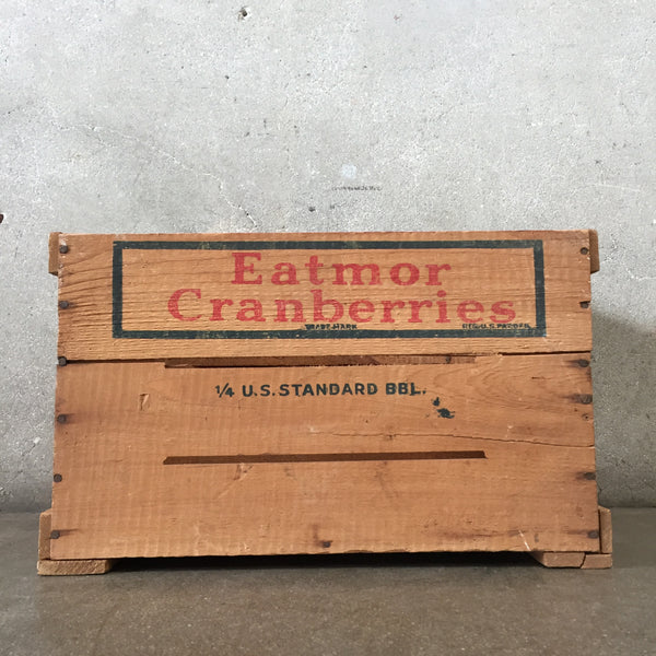 Eatmor Cranberries Wood Crate