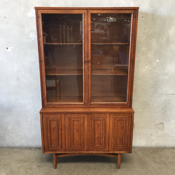 Broyhill Mid Century Two Piece Hutch