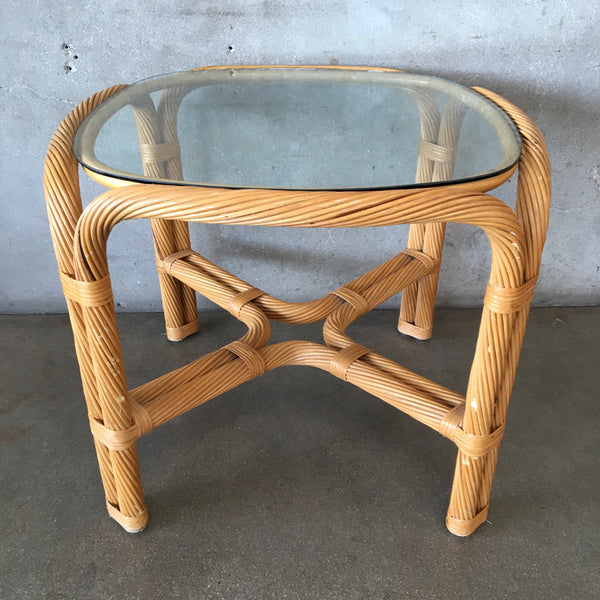 Twisted Rattan Table