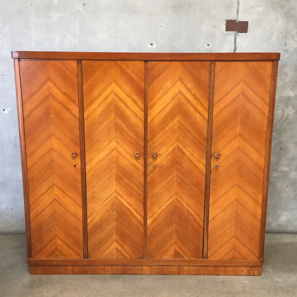 Mid Century Locker Cabinet / Armoire  Made in Germany 1950's