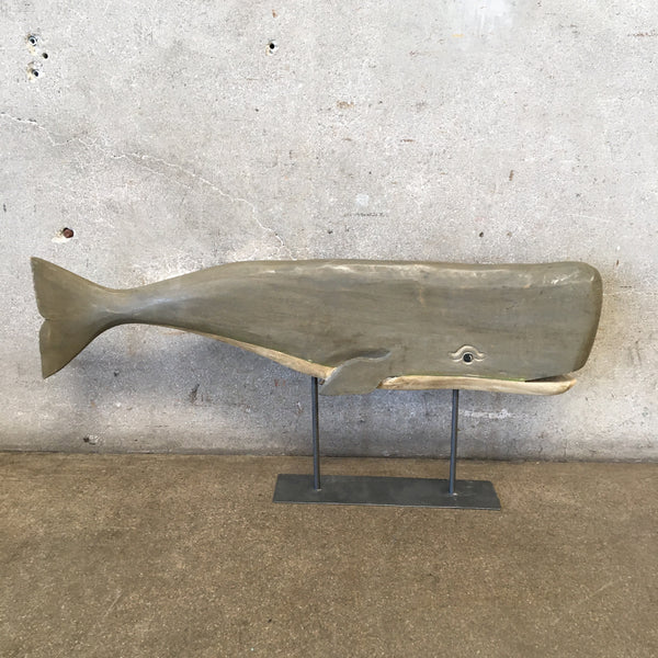 Carved Whale on Stand
