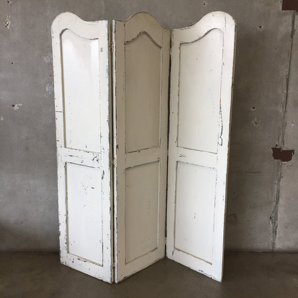 Vintage Three Panel Wood Screen