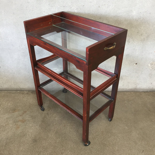 Vintage Bar Cart with Removable Tray