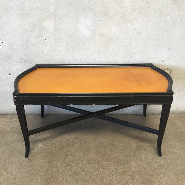 Leather Top Tea Table