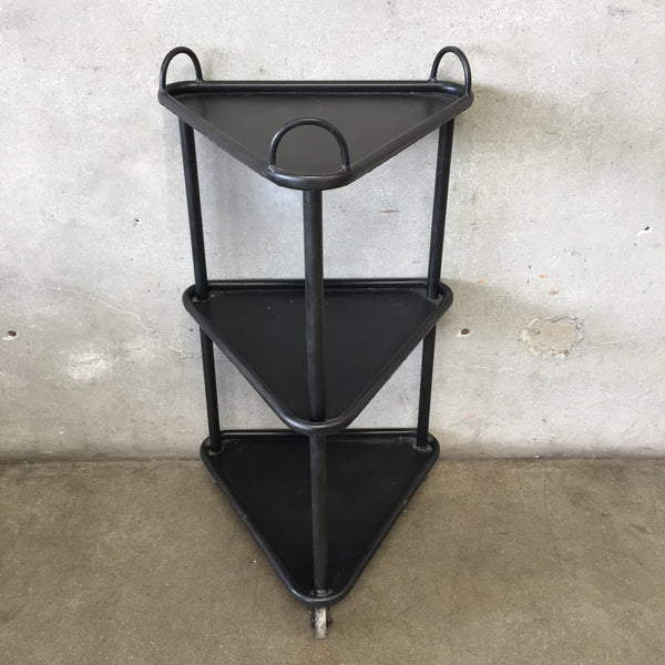 Black Tri Level Cocktail Cart