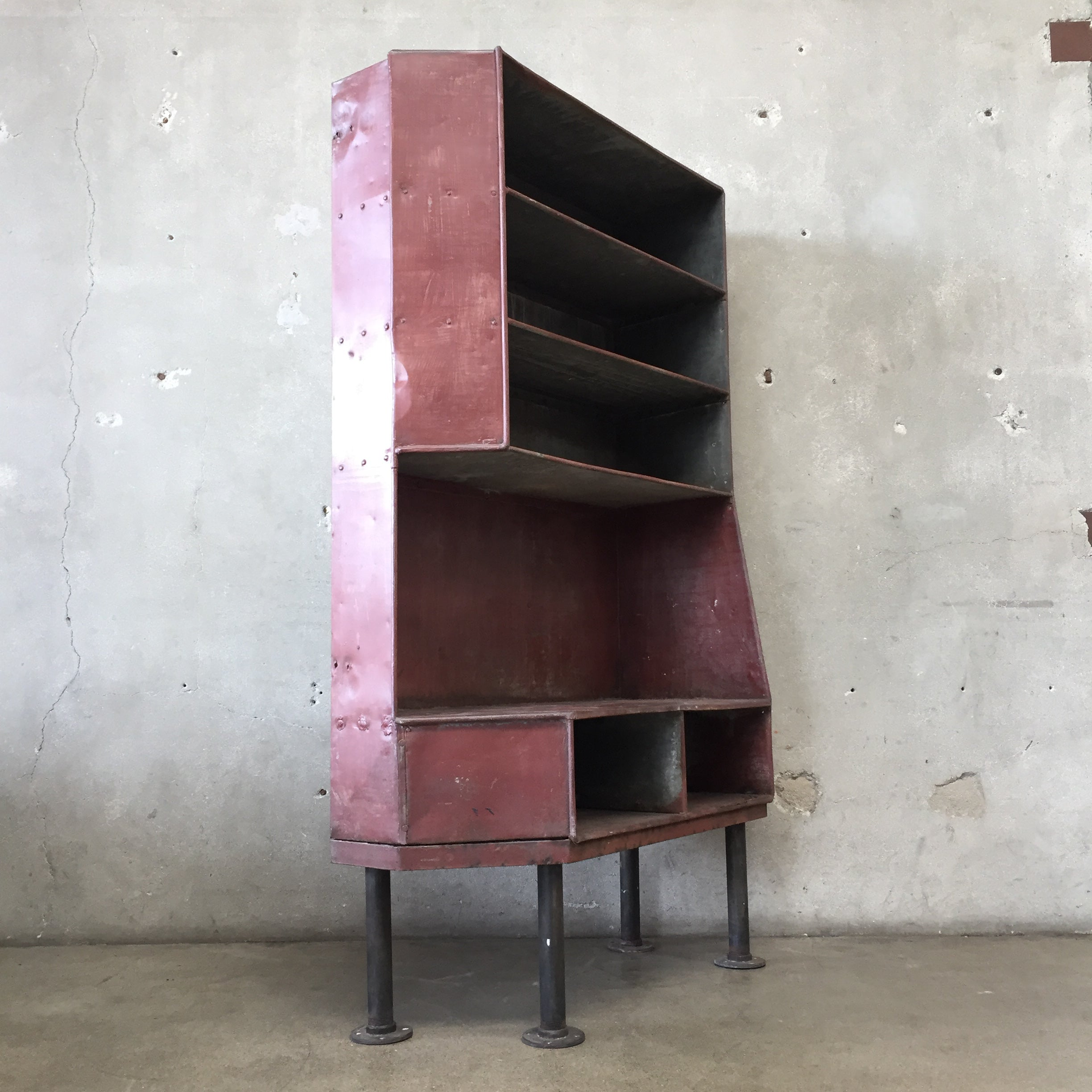 Red Industrial Shelving Unit