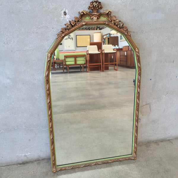 1920's Floral Carved Mirror
