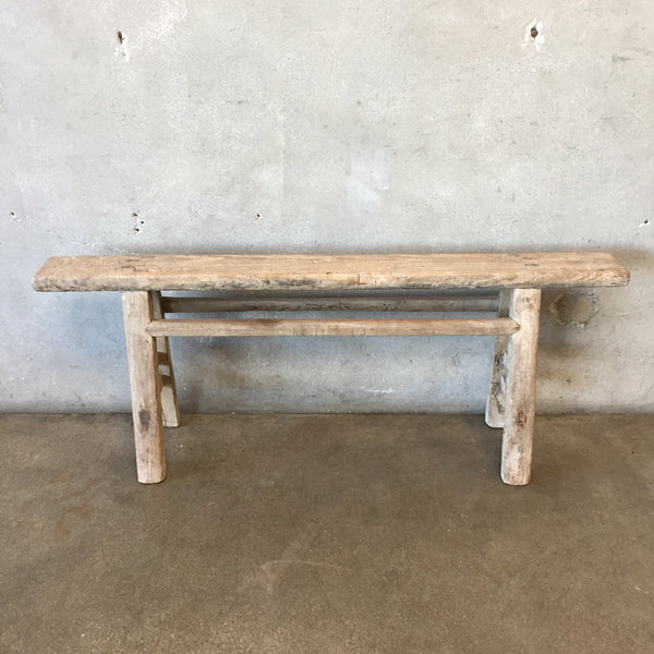 Rustic Wood Skinny Bench
