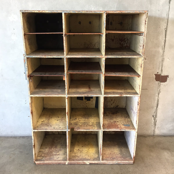 Industrial Plywood Cubby Storage