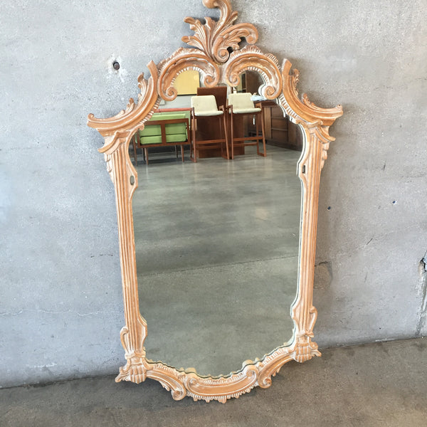 Antique Carved Hardwood Mirror
