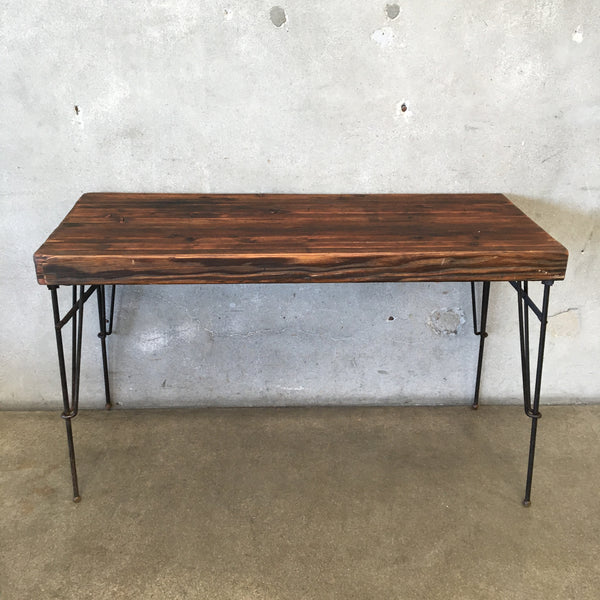 Unique Wood Top Convertible Bench / Table