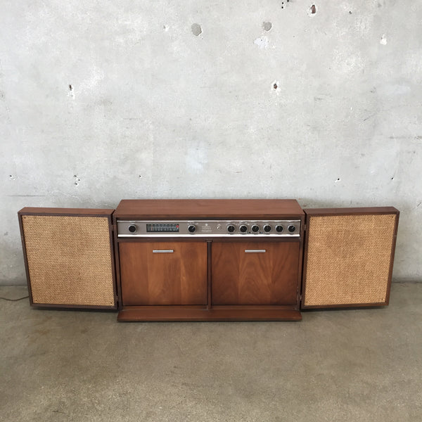 Mid Century Modern General Electric Record Player & FM/ AM Stereo Cabinet