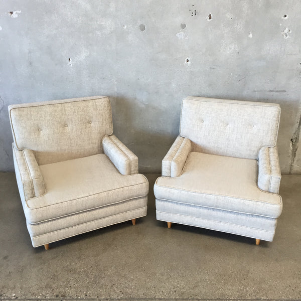 Pair of Vintage Mid Century Reupholstered Chairs