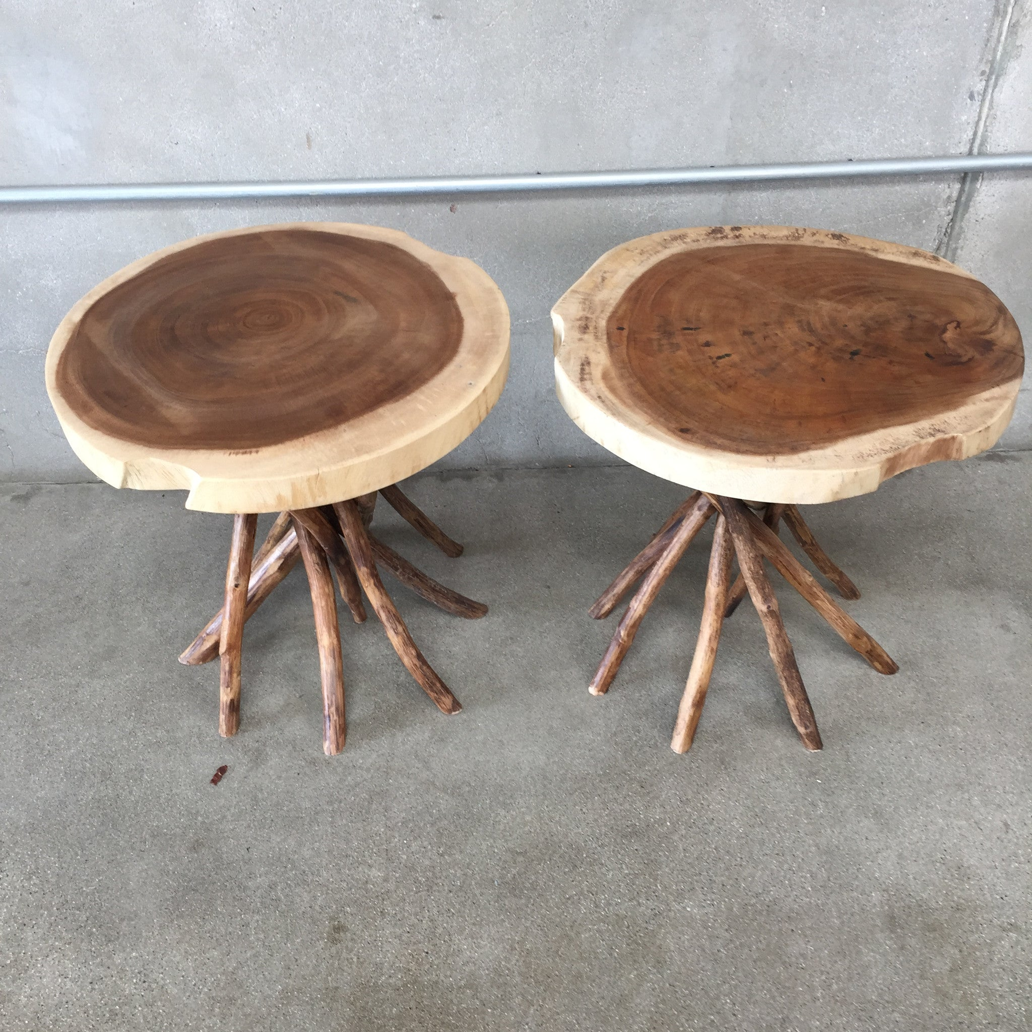 Handmade Indonesian End Tables Wood – UrbanAmericana
