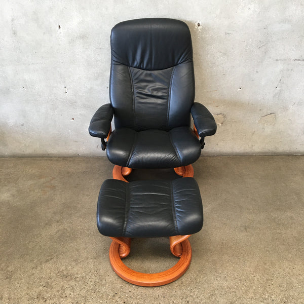 Ekornes Stressless Chair with Ottoman