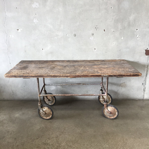 Vintage Gurney Workbench Table