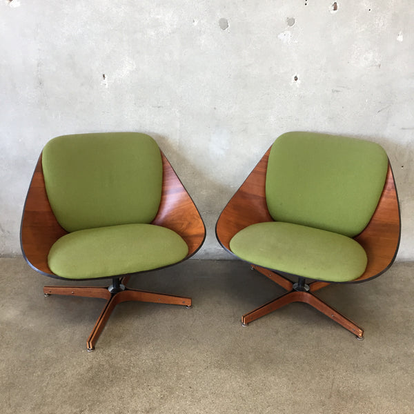Pair of Rare Plycraft Lounge Chairs