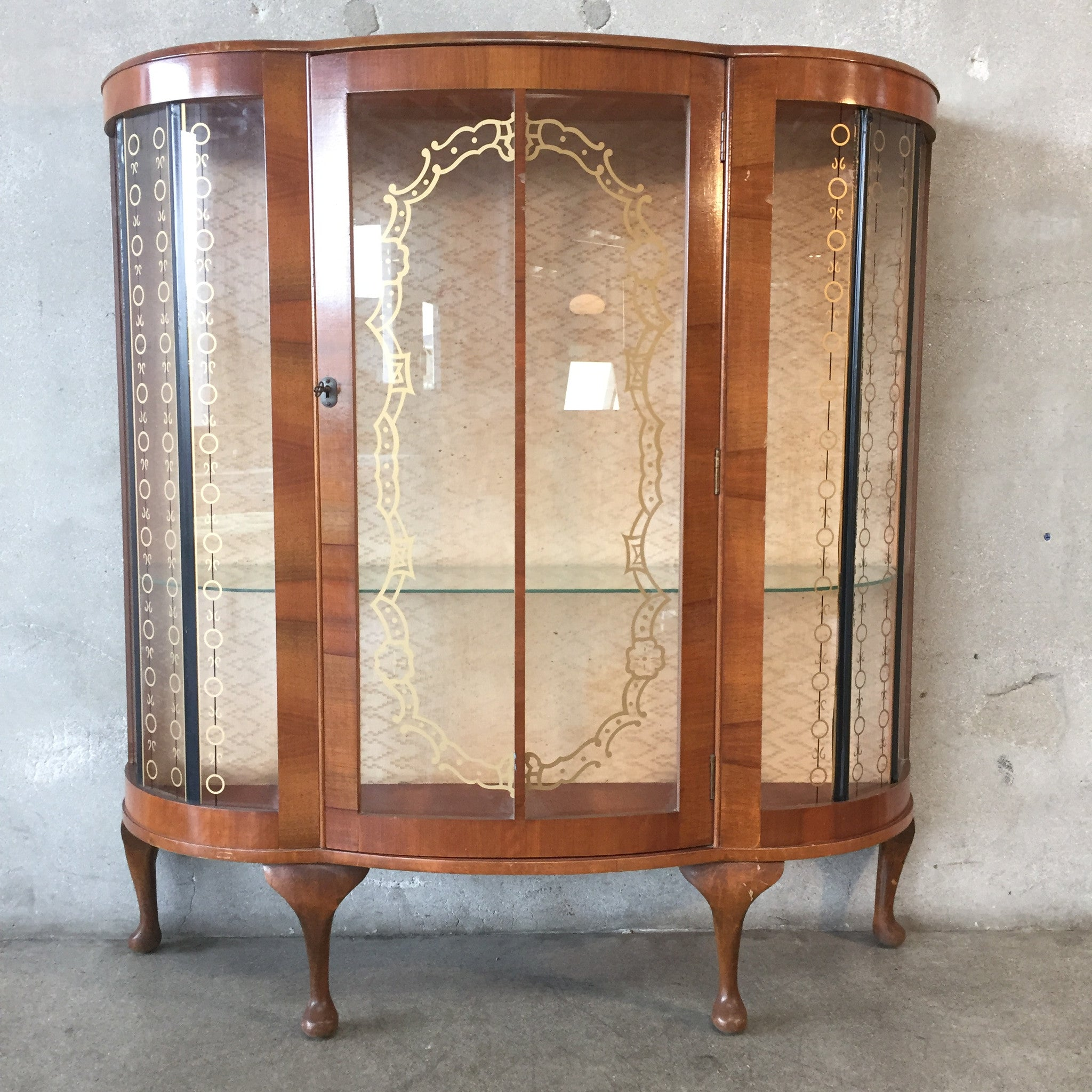 Curved Glass Curio Cabinet Cabinets Matttroy
