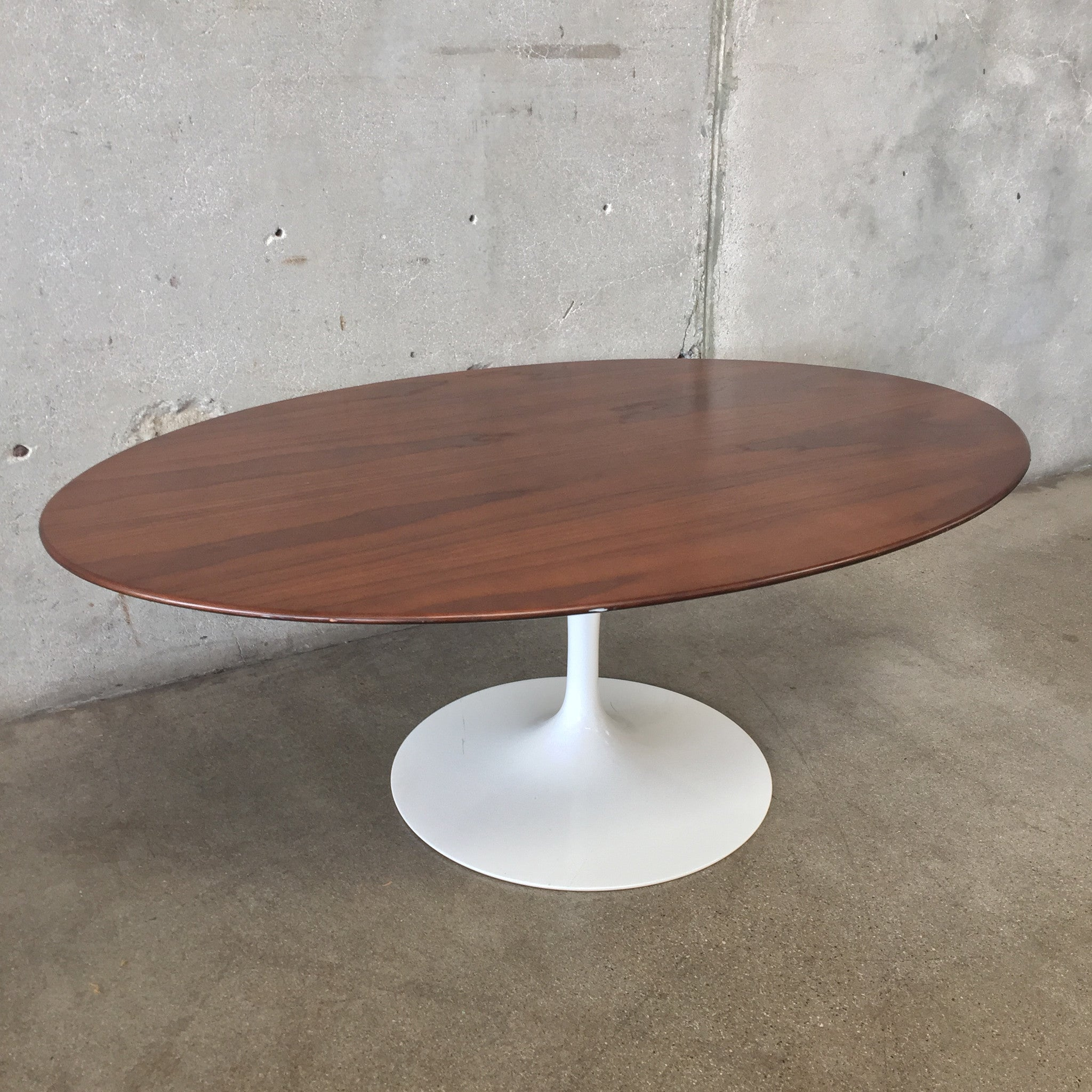 Knoll Saarinen Walnut Coffee Table Urbanamericana