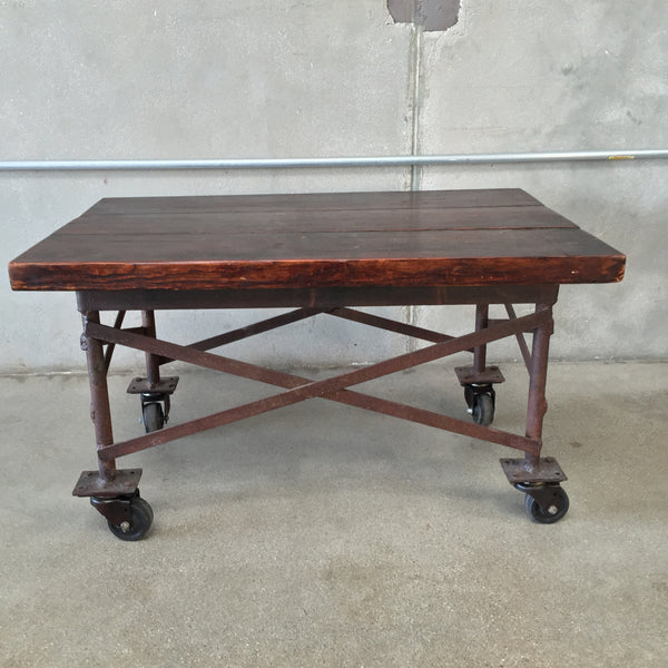 Industrial Rolling Coffee Table