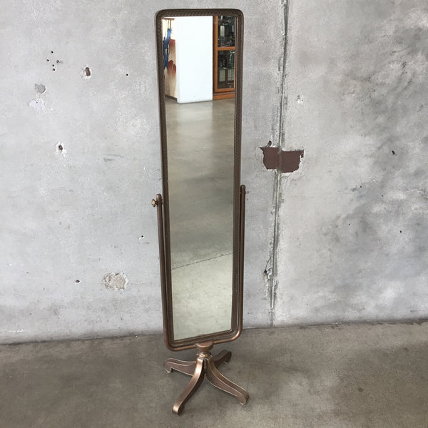 Antique Moroccan Stared Cheval Mirror