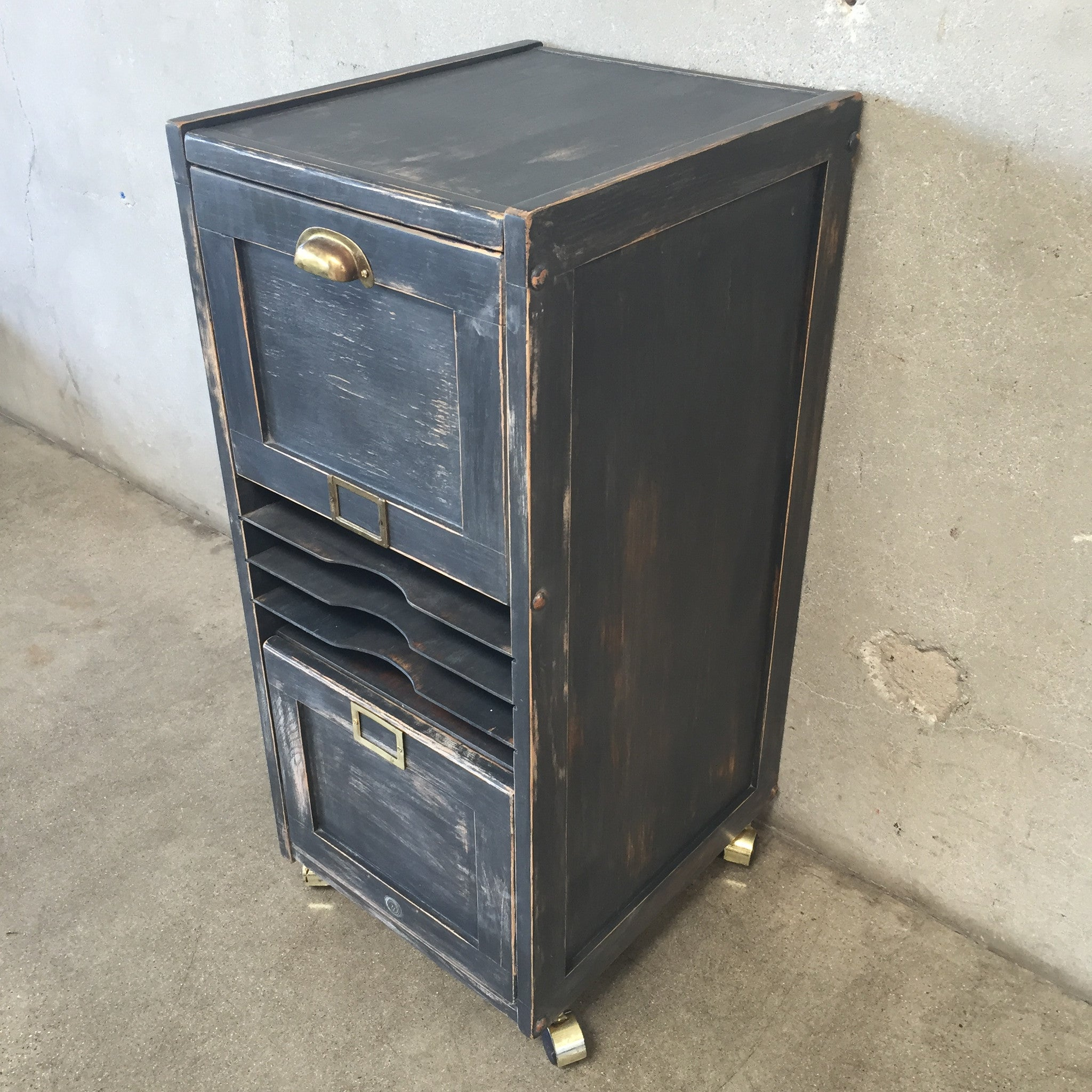 Hand Painted File Cabinet on Wheels – UrbanAmericana
