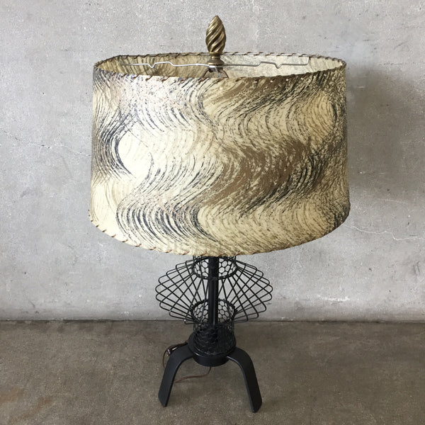 Mid Century Modern Iron Base Lamp