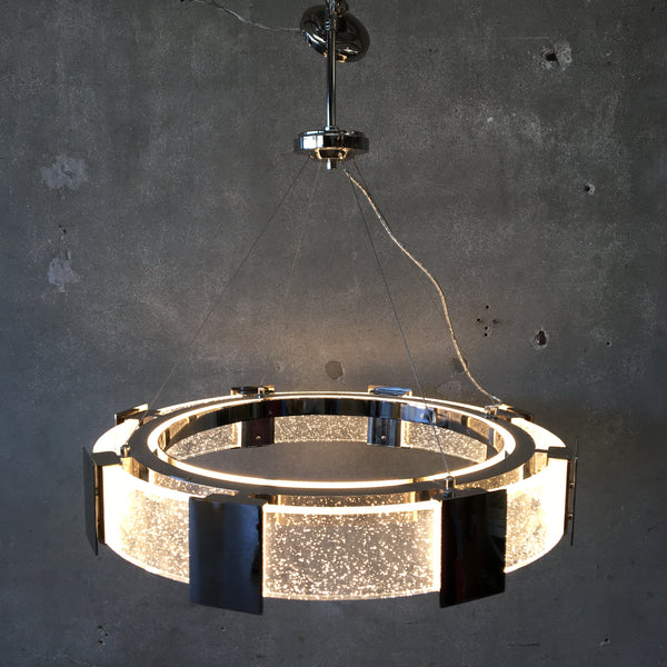 Stellaris LED Chandelier Lucite & Chrome