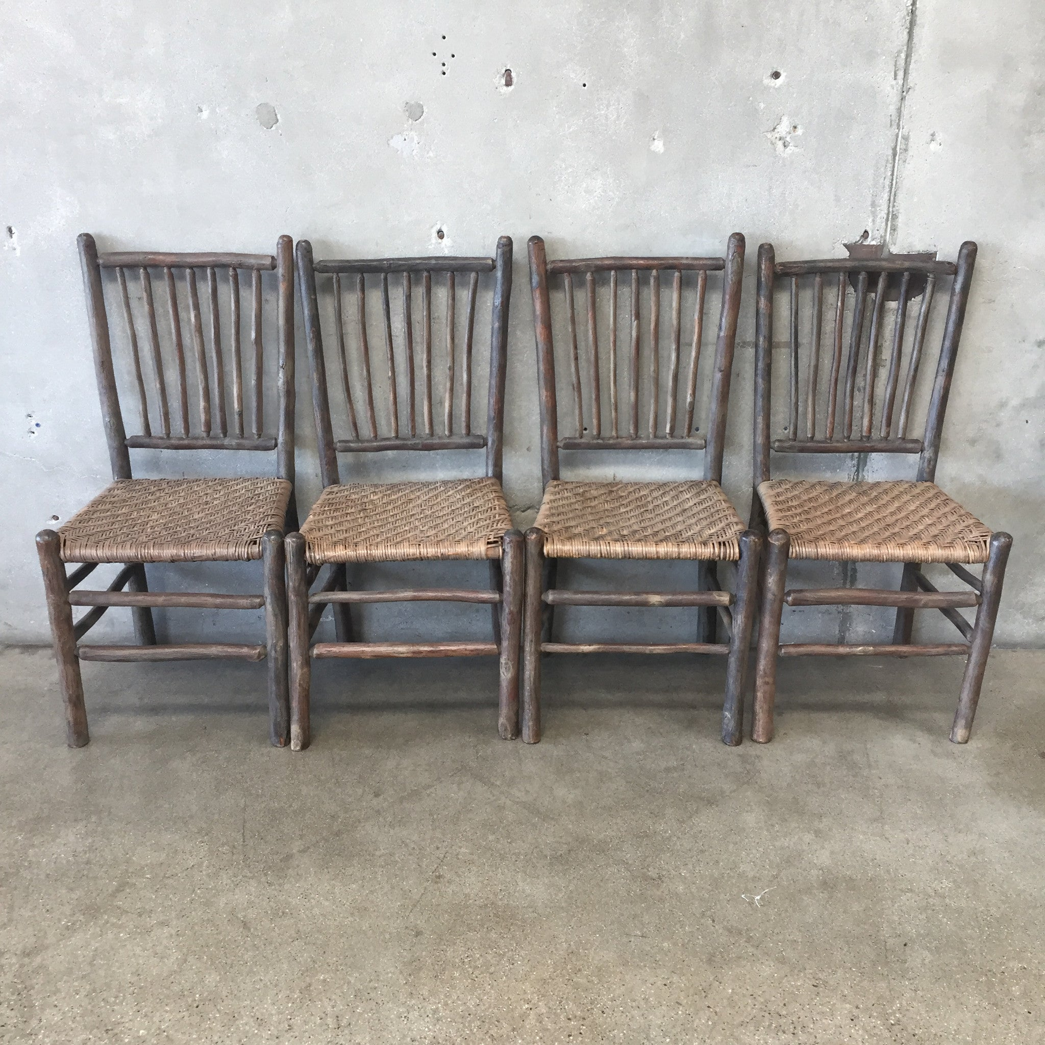 1930u0027s Original Grey Painted Old Hickory Chairs ...