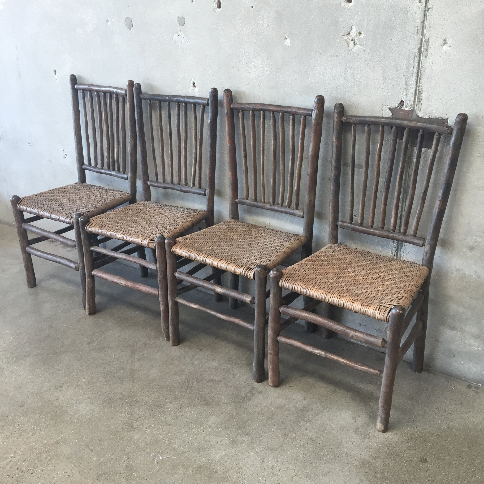 Lovely ... 1930u0027s Original Grey Painted Old Hickory Chairs ...