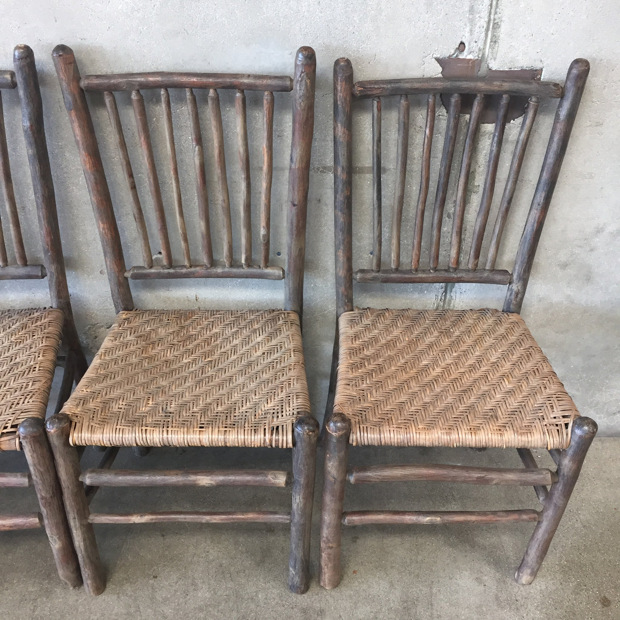 ... 1930u0027s Original Grey Painted Old Hickory Chairs ...