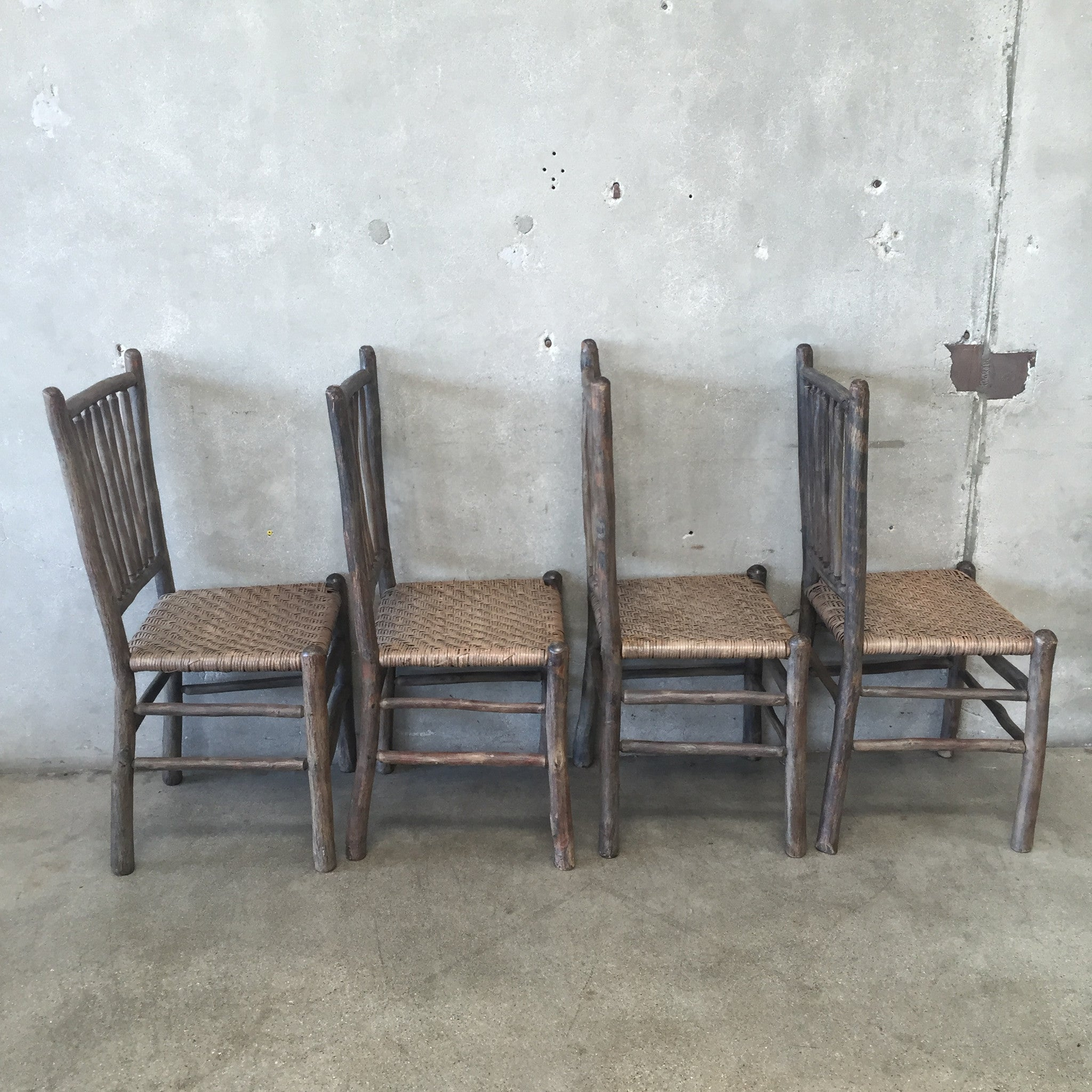 Superior ... 1930u0027s Original Grey Painted Old Hickory Chairs ...