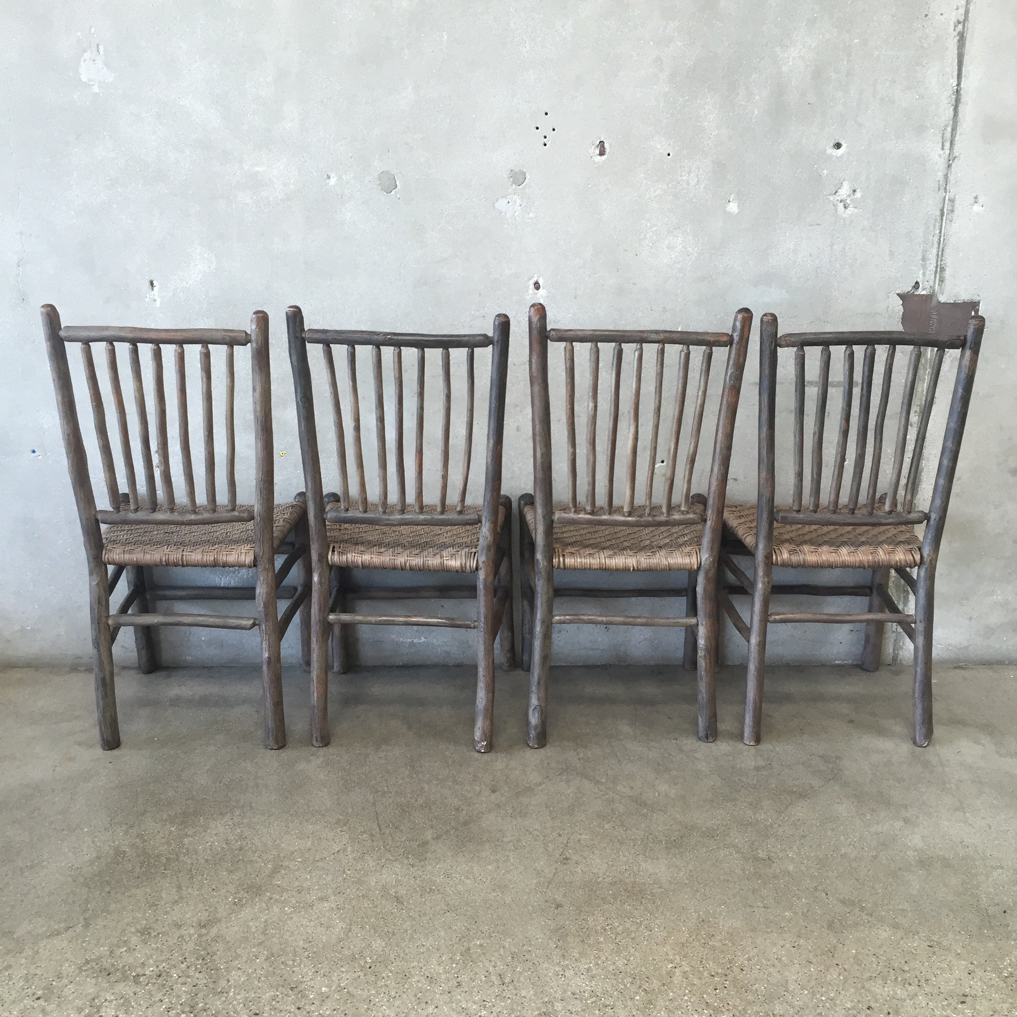 ... 1930u0027s Original Grey Painted Old Hickory Chairs