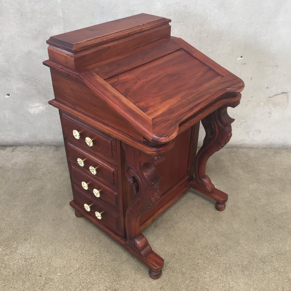 Vintage 1800's Davenport Ship Captain's Mahogany Desk
