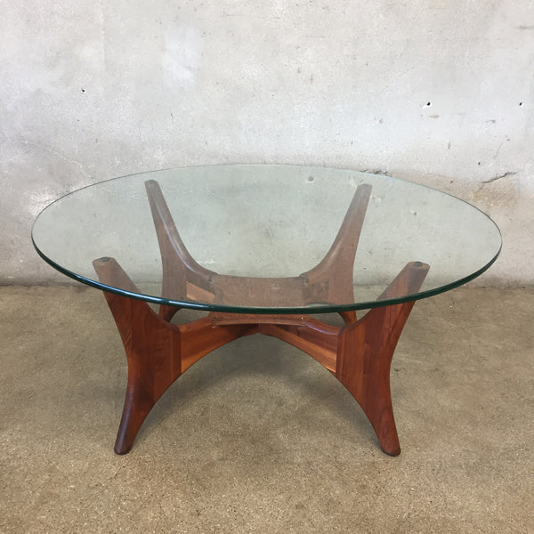 1649-PT Walnut Coffee Table Designed by Adrian Pearsall