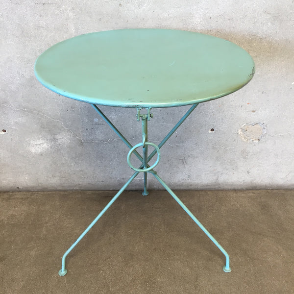 Bistro Blue Metal Folding Table
