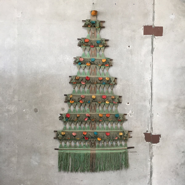 Mid Century Christmas Tree Wall Hanging