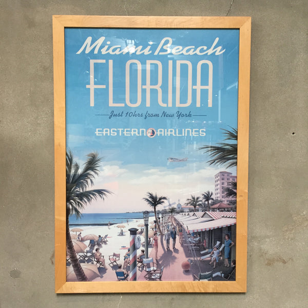 Eastern Airlines Miami Beach Framed Print