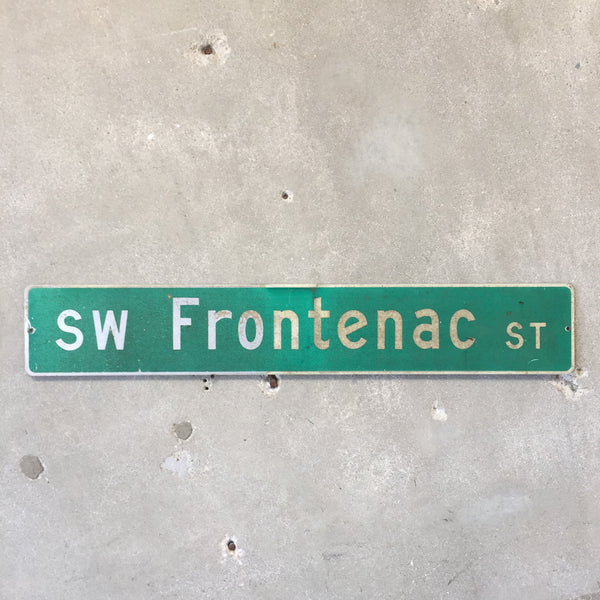 Vintage Seattle St Sign SW Frontenac St