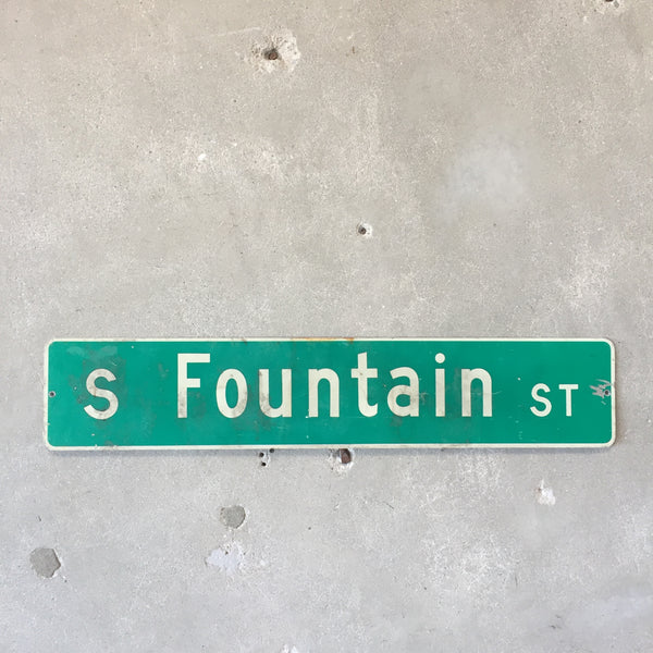 Vintage Seattle St Sign S Fountain St