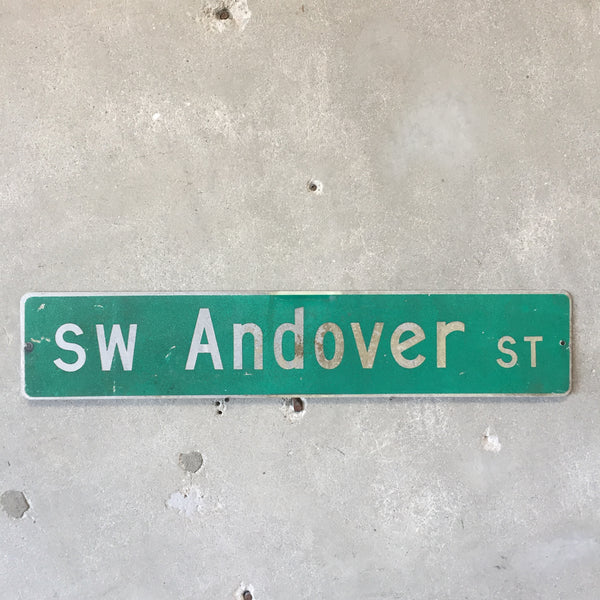 Vintage Seattle St Sign SW Andover St