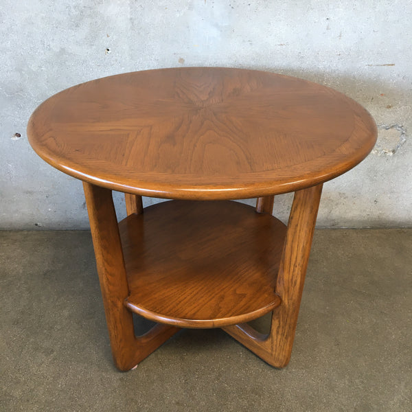 Mid Century Lane Round Side Table