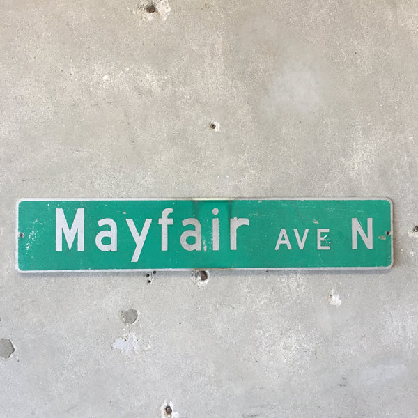 Vintage Seattle St Sign Mayfair Ave N