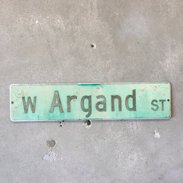 Vintage Seattle St Sign W Argand St
