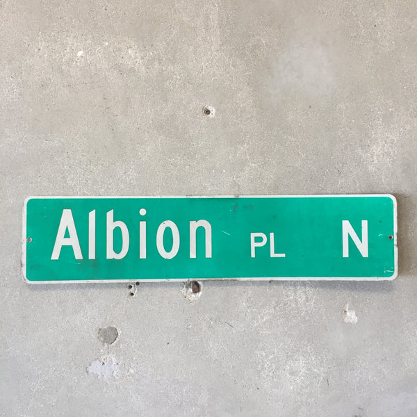 Vintage Seattle St Sign Albion Pl